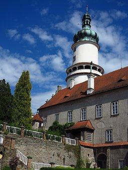 Castle, Nove Mesto Nad Metuji, Tower, Churn