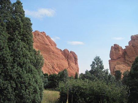 Garden Of The Gods, Colorado Springs, Garden, Rock