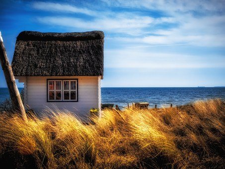 House, Haus Am See, Baltic Sea, Nature, Lake, Dune