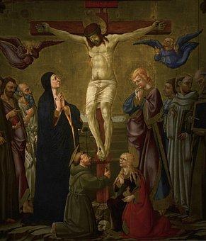 Italy, Florence, Painting, Church San Francesco