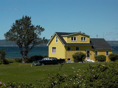 House, Dream Home, Haus Am See, Building, Lake, Canada