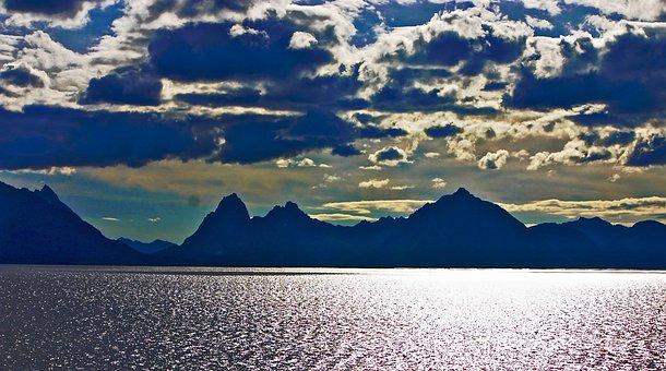 Lofoten, Norway, Hurtigruten, Norge, Clouds, Mountain
