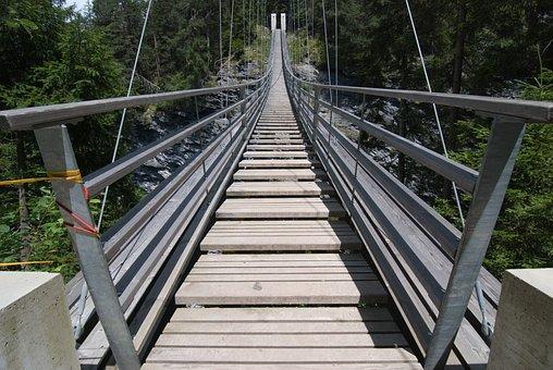Suspension Bridge, Hike, Bridge, Trek, Mountain