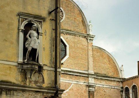 Old Statue, Niche, Italian, Sculpture, Statue, Medieval