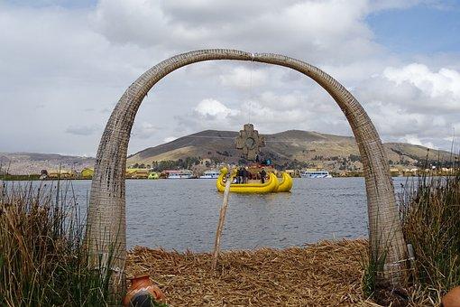 Lake, Titicaca, Peru, Barca, Native, Titiqaqa, Andes