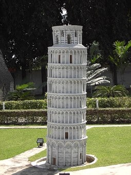 Tower, Askew, Mini Thailand, Pisa, Leaning Tower