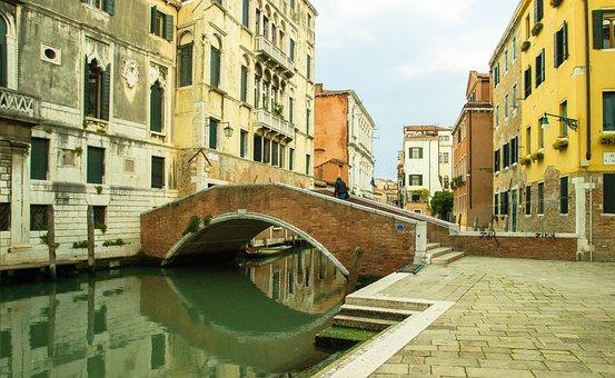 Venice Canal, European, Bridge, Stone Bridge, Water