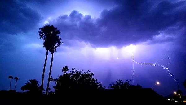 Lightening, Storm, Night, Clouds, Dark, Thunder