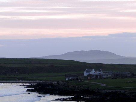 Abendstimmung, Lonely House, Coastal Landscape, Coast