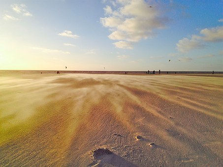Beach, Wind, Drift, Sand, Contrast, Structure, Sea, Sky