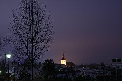 Estenfeld, Würzburg, Evening, Long Exposure, Night