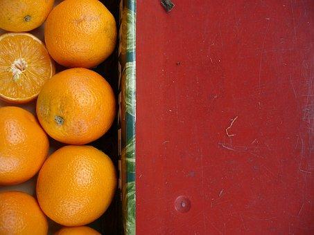 Fruit, Oranges, Contrast, Street Market, Form, Color