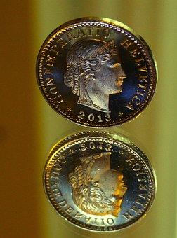 Money, Coins, Twenty, Centime, Conföderatia, Helvetia