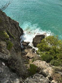 Cliff, Water, Holiday, Sea, Rock, Nature, Greece, Corfu