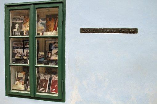 Window, Books, Reading, Kafka