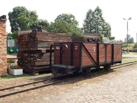 Narrow-gauge Railway, Train, Wagons, Locomotive, Rails