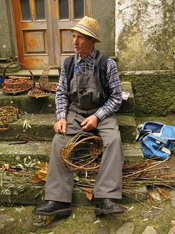 Craftsman Of Baskets, Lupinaia, Lucca, Tuscany