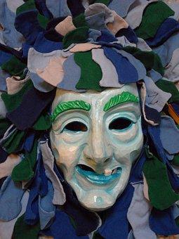 Mask, Face, Carved, Fig, Fasnet, Carnival, Haes, Panel