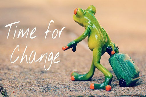 Time For A Change, Courage, New Beginning, Frog