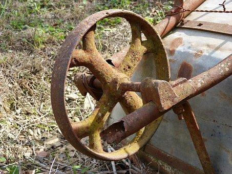 Bogie, Handcart, Old, Vintage, Wheel, Iron, Rusty