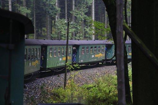 Narrow Gauge Railway Wagons, Old Train, Chemnitz