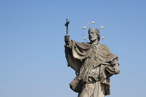Nepomuk, Statue, Bridge, Würzburg, Holy, Patron Saint