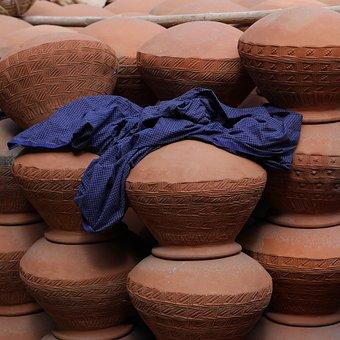 Pottery, Amphora, Clay Pots, Sound, Pots, Sarong, Cloth