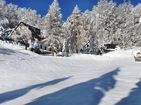 Winterlandschft, Lonely House, Atmosphere, Silent
