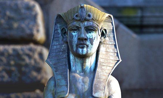 Sphinx, Tomb, Statue, Weathered, Cemetery