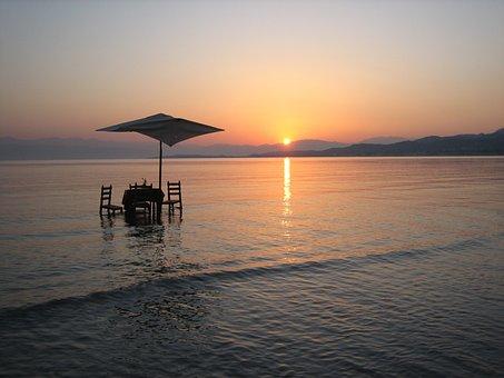 Sunrise, Greece, Corfu, Roda, Travel, Island, Sea