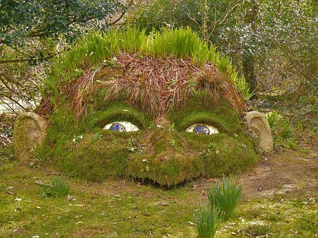 Giant's Head, Lost Gardens Of Heligan, Cornwall, Uk