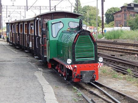Wagons, Narrow-gauge Railway, Rails, Historic Vehicle
