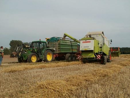Harvest, Grain, Tractors, Loaders, Combine, Agriculture