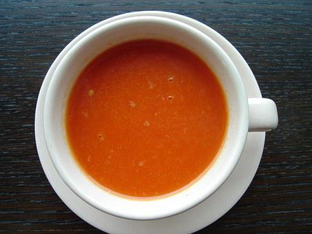 Bell Pepper Soup, Tomato Soup, Soup, Food, Bag, Cup Of