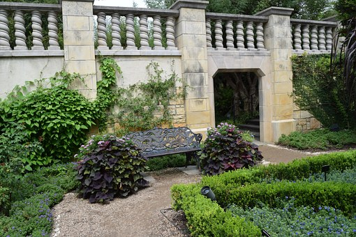 Baluster, Flowers, Arboretum, Architecture, Summer