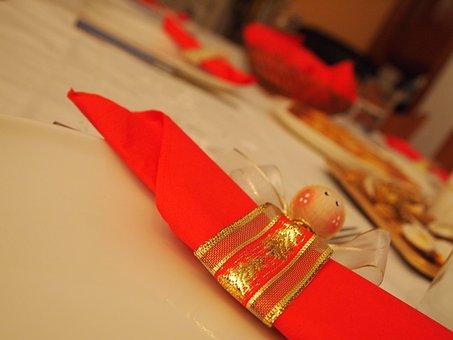 Napkin, Decoration, Napkin Ring, Christmas