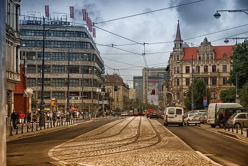 City Of Wrocław, Poland, City, Street, The Old Town
