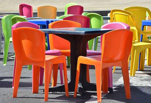 Tables And Chairs, Color, Coffee Terrace