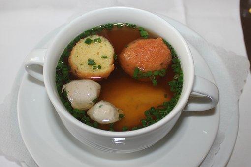 Soup, Wedding Soup, Swabian, Consommé Cup