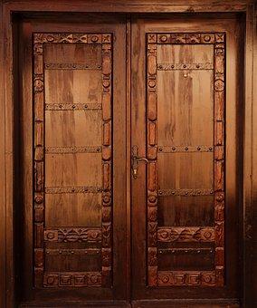 Brown, Closed, Decor, Decoration, Design, Door, Doors