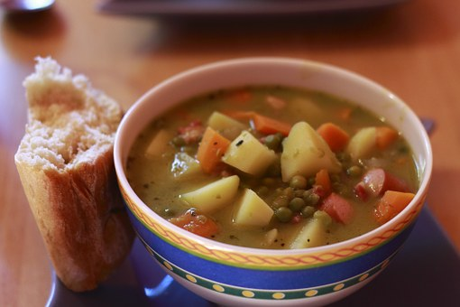 Soup, Bread, Pea Soup, Eat And Drink, Food, Delicious