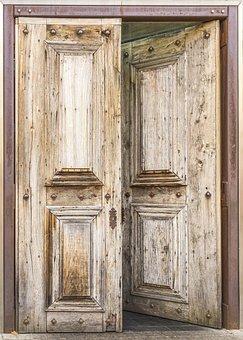 Door, Wood Texture, Ajar