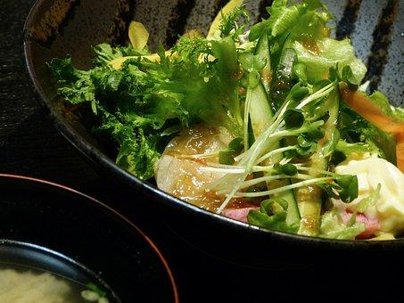 Vegetables, Healthy Salad, Dressing, Salad Cream, Mayo