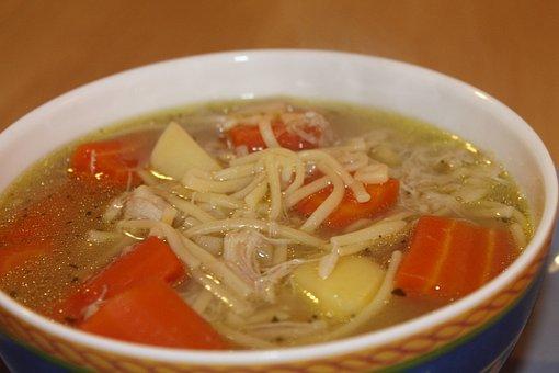 Soup, Chicken Soup, Eat, Food, Court, Cook, Vegetables