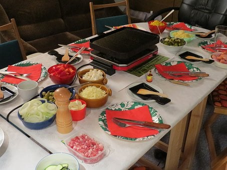 Raclette, Festival, Celebrate, Eat, Dinner, Party, Cook