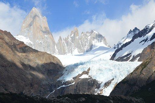 Patagonia, Fitz Roy, Cerro Torre, Glaciers, Sol, Snow