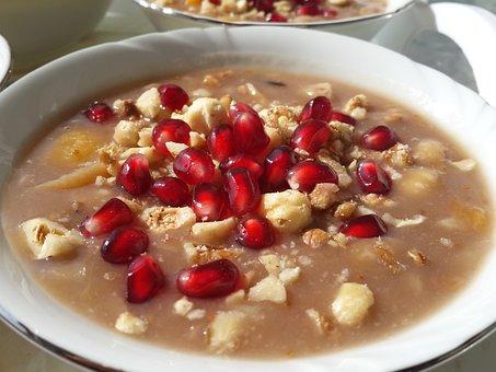 Ashura, Hazelnut, Peanut, Pomegranate, Soup, Sweet