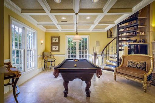 Pool Room, Luxury, House, Interior, Architecture