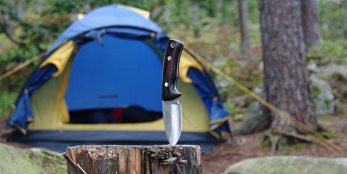 Sweden, Camp, Forest, Tent, Knife, Natural