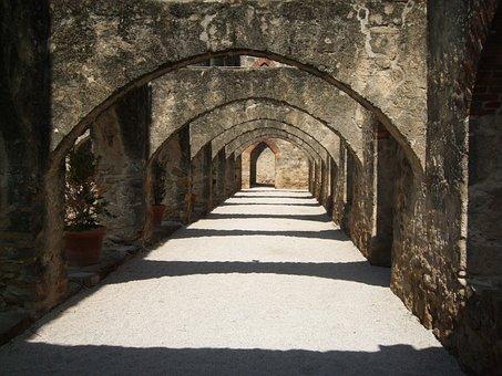 Archway, Mission, San Antonio, Historic, Church